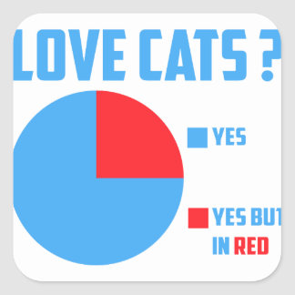 Sticker Carré Chats d'amour