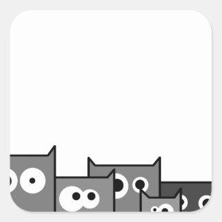 Sticker Carré chats de guerre biologique