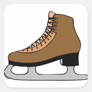 Sticker Carré Chaussure de patin de glace