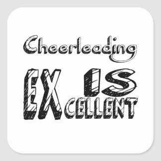 Sticker Carré Cheerleading est excellent