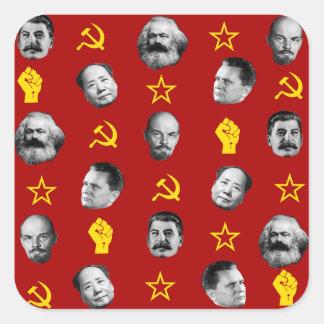 Sticker Carré Chefs communistes