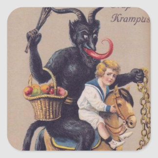 Sticker Carré Cheval de basculage de Krampus