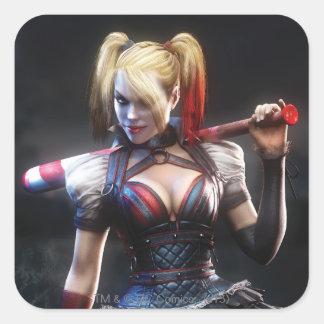 Sticker Carré Chevalier de Batman Arkham   Harley Quinn avec la