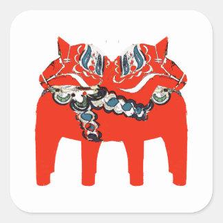 Sticker Carré Chevaux habillement et cadeaux de Dala de Suédois