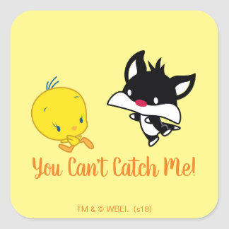 Sticker Carré Chibi SYLVESTER™ chassant TWEETY™