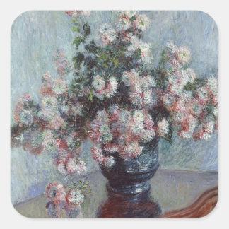 Sticker Carré Chrysanthèmes