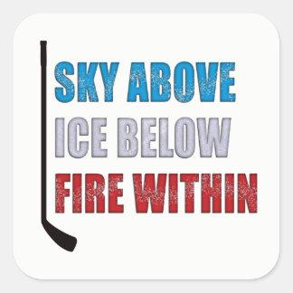Sticker Carré Ciel d'autocollant de hockey sur glace au-dessus