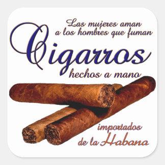 Sticker Carré Cigarros - Cirars