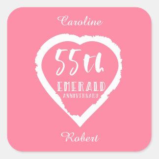 Sticker Carré cinquante-cinquième émeraude traditionnelle