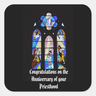 Sticker Carré Cinquantième d'anniversaire 15ème de prêtre 20ème
