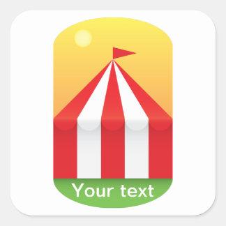 Sticker Carré Cirque
