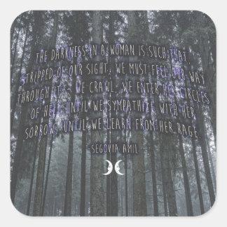 Sticker Carré Citation de Witchy par Ségovie Amil