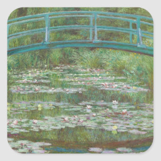 Sticker Carré Claude Monet | la passerelle japonaise, 1899