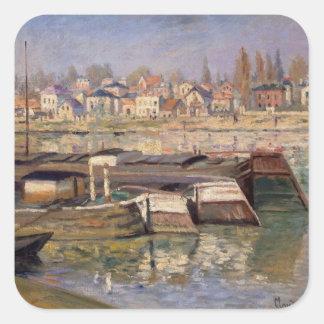 Sticker Carré Claude Monet | la Seine chez Asnieres, 1873