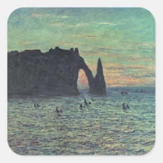 Sticker Carré Claude Monet | l'aiguille creuse chez Etretat,