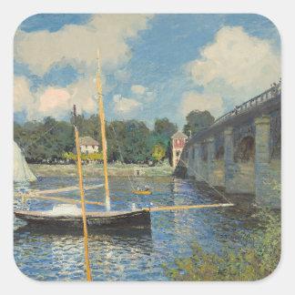 Sticker Carré Claude Monet   le pont à Argenteuil