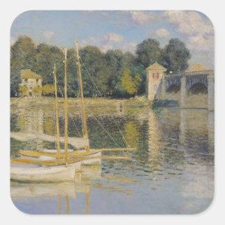 Sticker Carré Claude Monet   le pont à Argenteuil, 1874