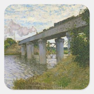 Sticker Carré Claude Monet | le pont de chemin de fer à