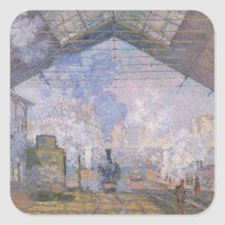 Sticker Carré Claude Monet | le St Lazare, 1877 de Gare