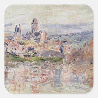 Sticker Carré Claude Monet | le village de Vetheuil, c.1881
