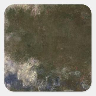 Sticker Carré Claude Monet | les nénuphars les nuages, 1914-18
