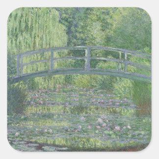 Sticker Carré Claude Monet | l'étang de nénuphar : Harmonie
