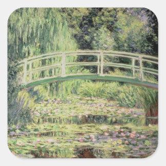 Sticker Carré Claude Monet | Nenuphars blanc, 1899