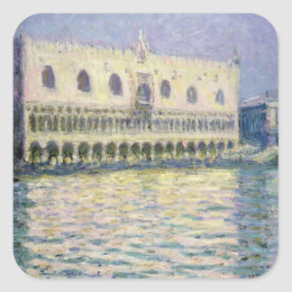Sticker Carré Claude Monet | Palace ducal, Venise, 1908