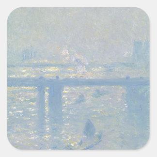 Sticker Carré Claude Monet - pont croisé de Charing. Art