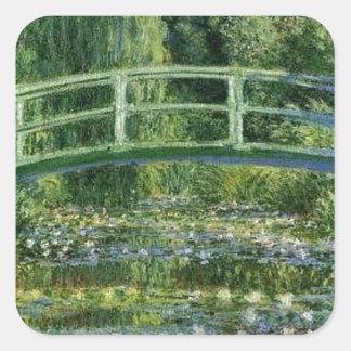 Sticker Carré Claude Monet - pont japonais