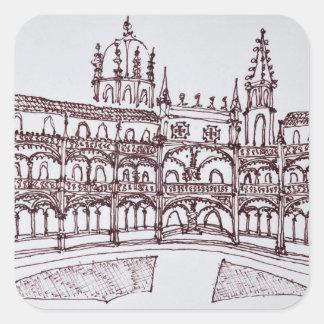 Sticker Carré Cloître | Lisbonne, Portugal de monastère de