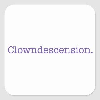 Sticker Carré Clowndescension.