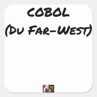 Sticker Carré Cobol (Du Far-West) - Jeux de Mots- Francois Ville