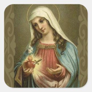 Sticker Carré Coeur impeccable vintage de Mary