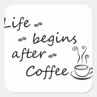 Sticker Carré coffee18