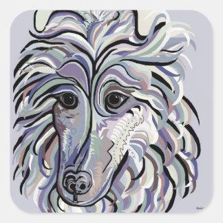 Sticker Carré Colley dans des couleurs de denim