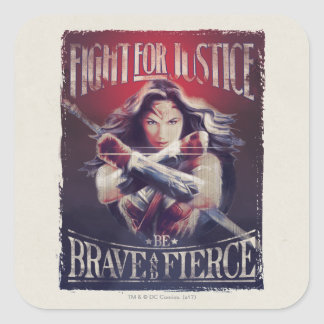 Sticker Carré Combat de femme de merveille pour la justice