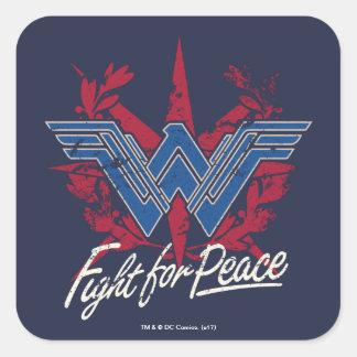 Sticker Carré Combat de femme de merveille pour le symbole de