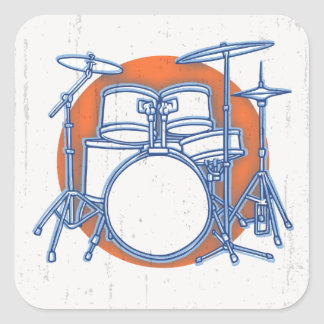 Sticker Carré Compensation de kit de tambour