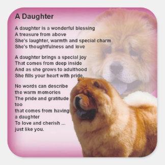 Sticker Carré Conception de chien de bouffe de bouffe - poème de