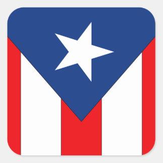 Sticker Carré Conception de drapeau de Puerto Rico2 -