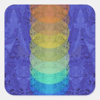 Sticker Carré Conception de tapisserie de Chakra de yoga
