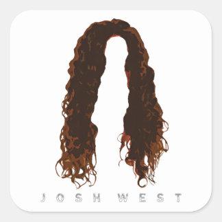 Sticker Carré Conception des cheveux de Josh