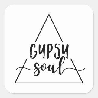 Sticker Carré Conception gitane de triangle d'âme