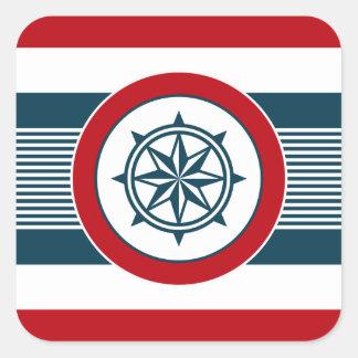 Sticker Carré Conception nautique