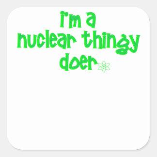 Sticker Carré Conception nucléaire originale