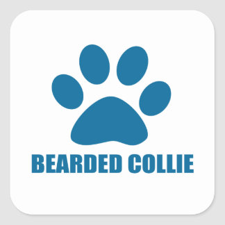 STICKER CARRÉ CONCEPTIONS BARBUES DE CHIEN DE COLLEY