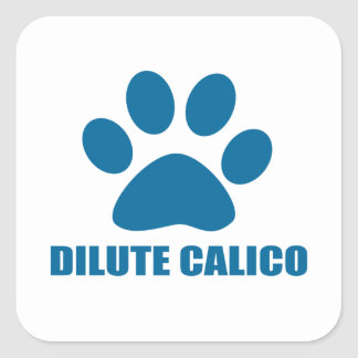STICKER CARRÉ CONCEPTIONS DILUÉES DE CAT DE CALICOT