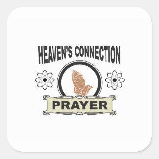 Sticker Carré connexion de cieux