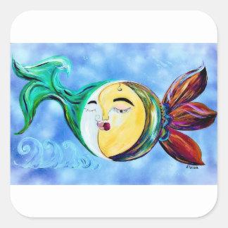 Sticker Carré Connexion rêveuse d'amour